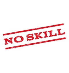 No skill watermark stamp vector