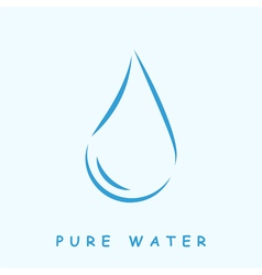 Pure water logo vector