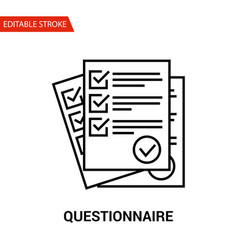 Questionnaire icon thin line vector