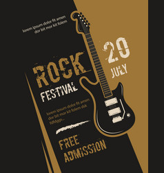 Retro grunge rock and roll heavy metal music vector