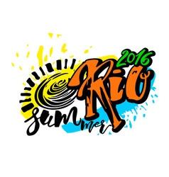 Rio de Janeiro Brazil summer 2016 vector image