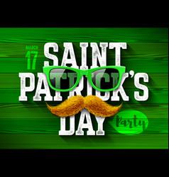 Saint patricks day feast of saint patrick party vector