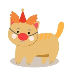 Set of cheerful circus playing cats vector image