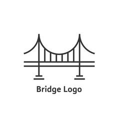 simple black thin line bridge logo vector image