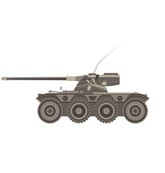 tank military war army armored flat background vector image vector image