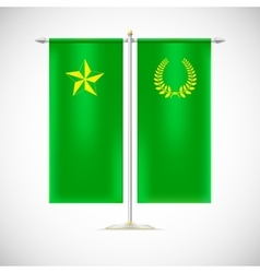 Two flags on a stand vector