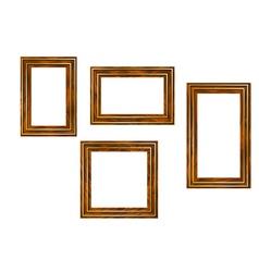 wooden frames vector image vector image