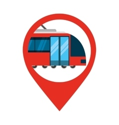 Tram transport public service icon vector