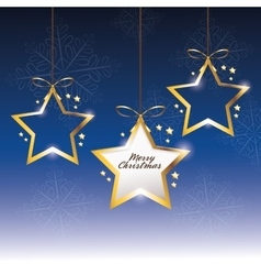Star decoration merry christmas icon vector
