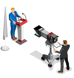 Election news infographic presidential isometric vector