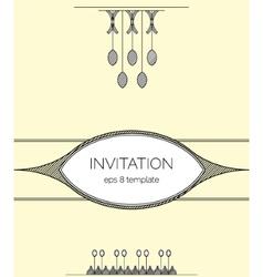 Elegant minimalistic design invitation vector