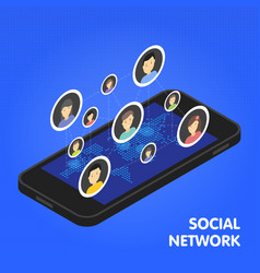 Social network and technology concept global vector