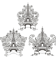 Stylized eiffel tower vector