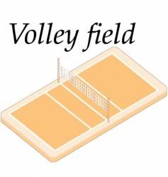 volley field vector image