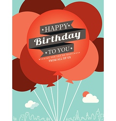 Birthday card design template vector