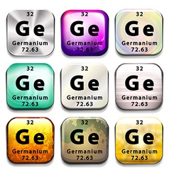 A button showing the chemical element germanium vector