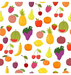 Seamless pattern with fruits healthy food vector