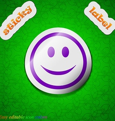 Smile happy face icon sign symbol chic colored vector