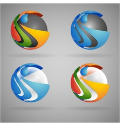 Sphere colorful vector