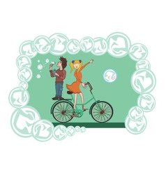 Bike bubbles vector