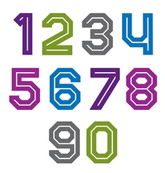 Retro colorful acute-angled geometric numeration vector