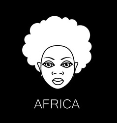 Africa people sign vector