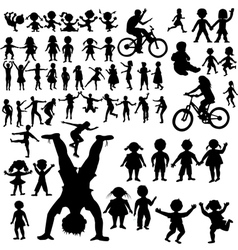 Hand drawn children vector