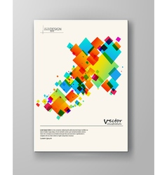 Abstract spectrum colorful bottom mosaic brochure vector