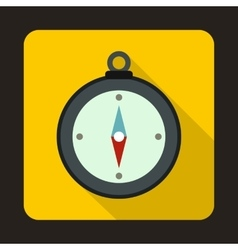 Compass icon in flat style vector