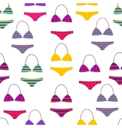 Summer beach seamless pattern with multi vector