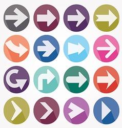 Arrow icons shadow vector