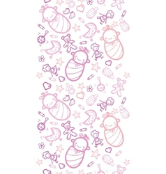 Baby girls horizontal seamless pattern background vector image vector image