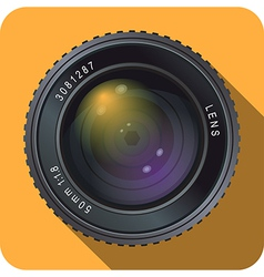 Camera Lens Icon 50mm vector image