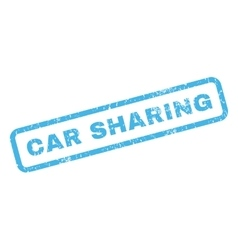 Car Sharing Rubber Stamp vector image vector image