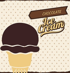 Chcolate design vector image vector image