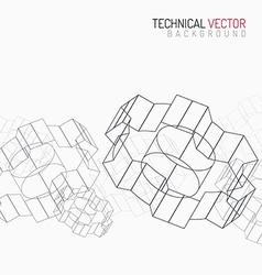 Cogwheels linear graphic vector image