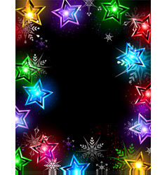 Electric stars vector image