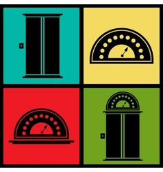 Elevator icons vector