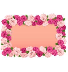 Flower board vector