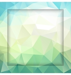 fresh polygonal background vector image vector image