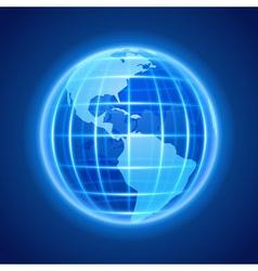 Globe earth night light icon design element vector image