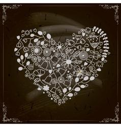 Happy Valentines Day Design Blackboard vector image vector image