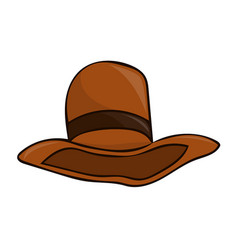 hat isolated vector image vector image