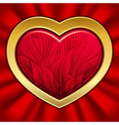 heart with floral pattern on valentines day eps10 vector image vector image