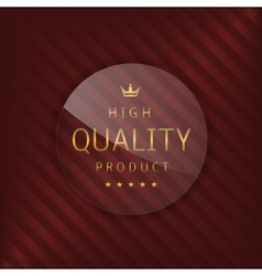 High quality glass label vector image vector image