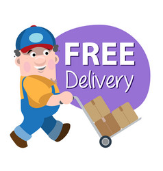 Loader makes free delivery vector