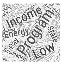 Low income home energy assistance program word vector