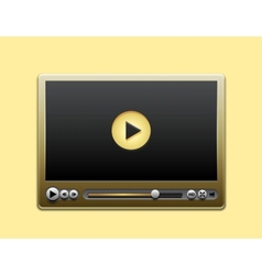 media player vector image vector image
