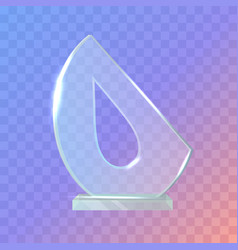 my best trophy semi-oval award with drop inside vector image vector image