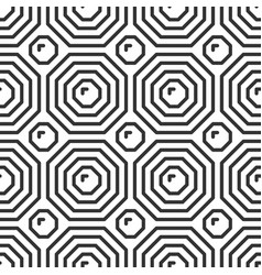 Octahedron tile geometric seamless pattern vector